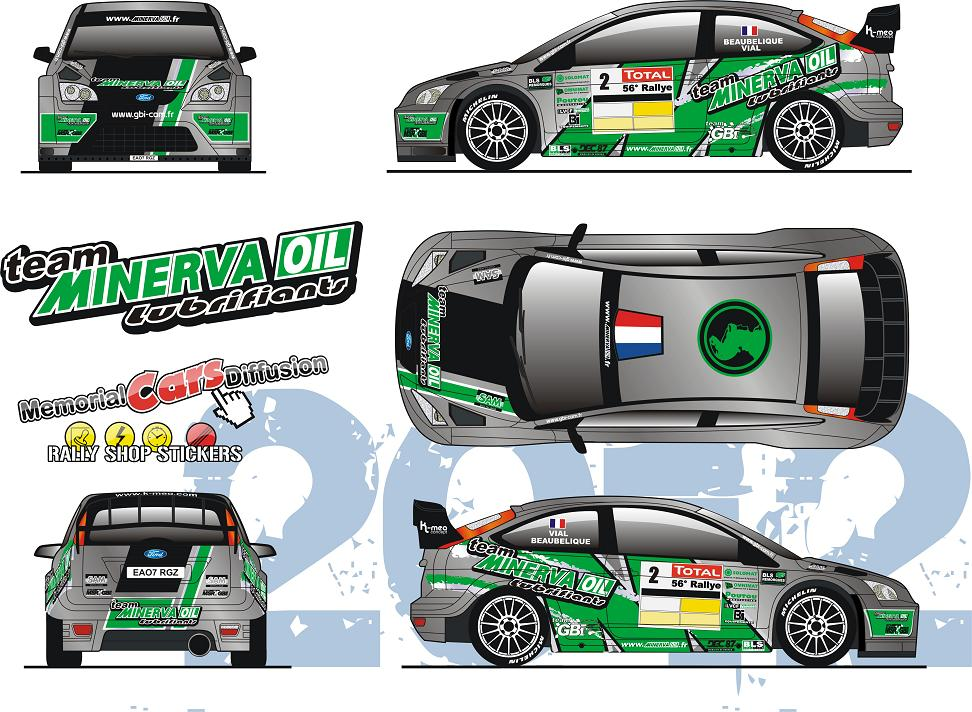 D�coration Ford Focus WRC 08