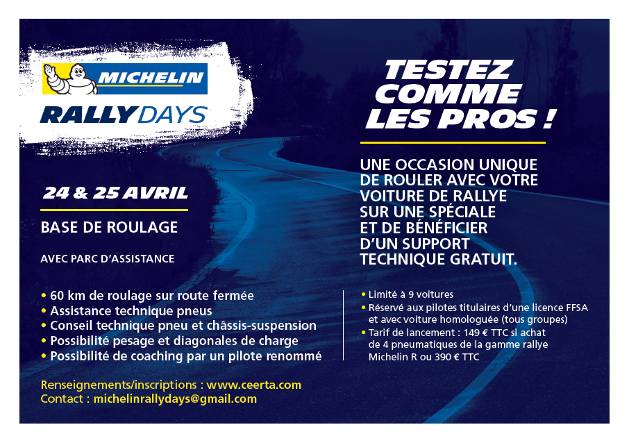 GBi.com organise le premier Michelin Rally Days